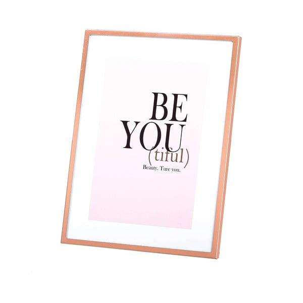 Ramka na zdjęcie w kolorze miedzi Be You, 13x18 cm