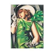 """Tamara de Lempicka """"Kobieta w zieleni'"""