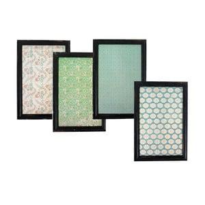Zestaw 4 magnetycznych tabliczek dekoracyjnych Nordal