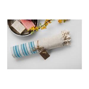Ręcznik hamam Katre Turquoise, 100x180 cm