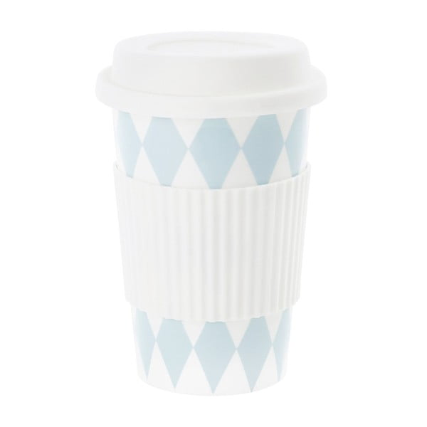 Ceramiczny kubek z przykrywką Harlequin Turquoise, 0,5 l
