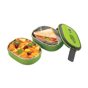 Zielony podwójny pojemnik na lunch Pioneer lunchbox
