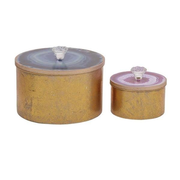 Zestaw   2 pudełek InArt Purple Goldino