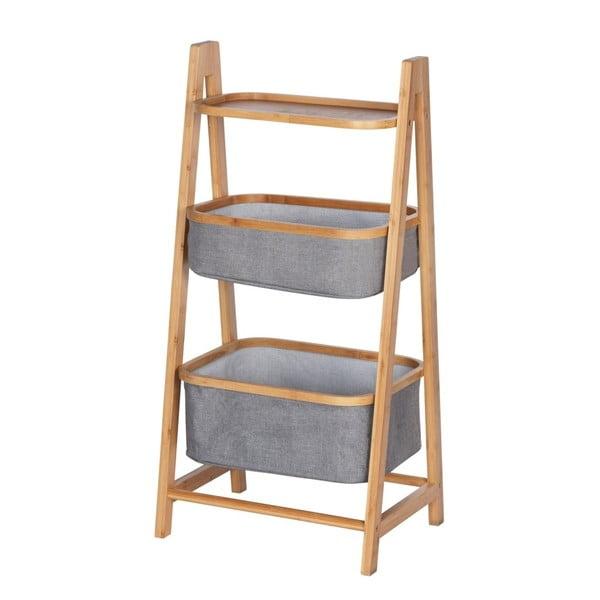 Bambusowy regał łazienkowy z 2 koszami do przechowywania Wenko Bahari