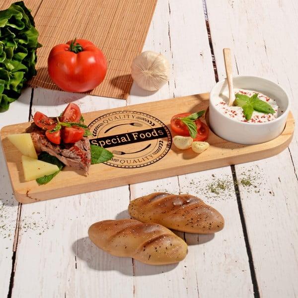 Bambusowa deska do krojenia z miską na dip Dish Lux