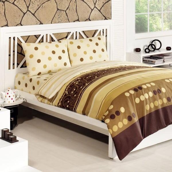 Zestaw pościeli Simay Gold, 240x220 cm