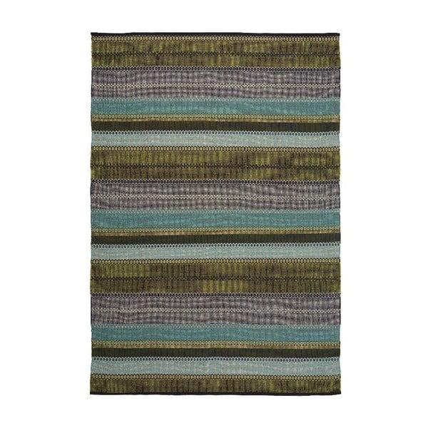Bawełniany dywan Ida Green, 80x200 cm