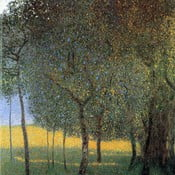 Reprodukcja obrazu Gustava Klimta - Fruit Trees, 45x45 cm