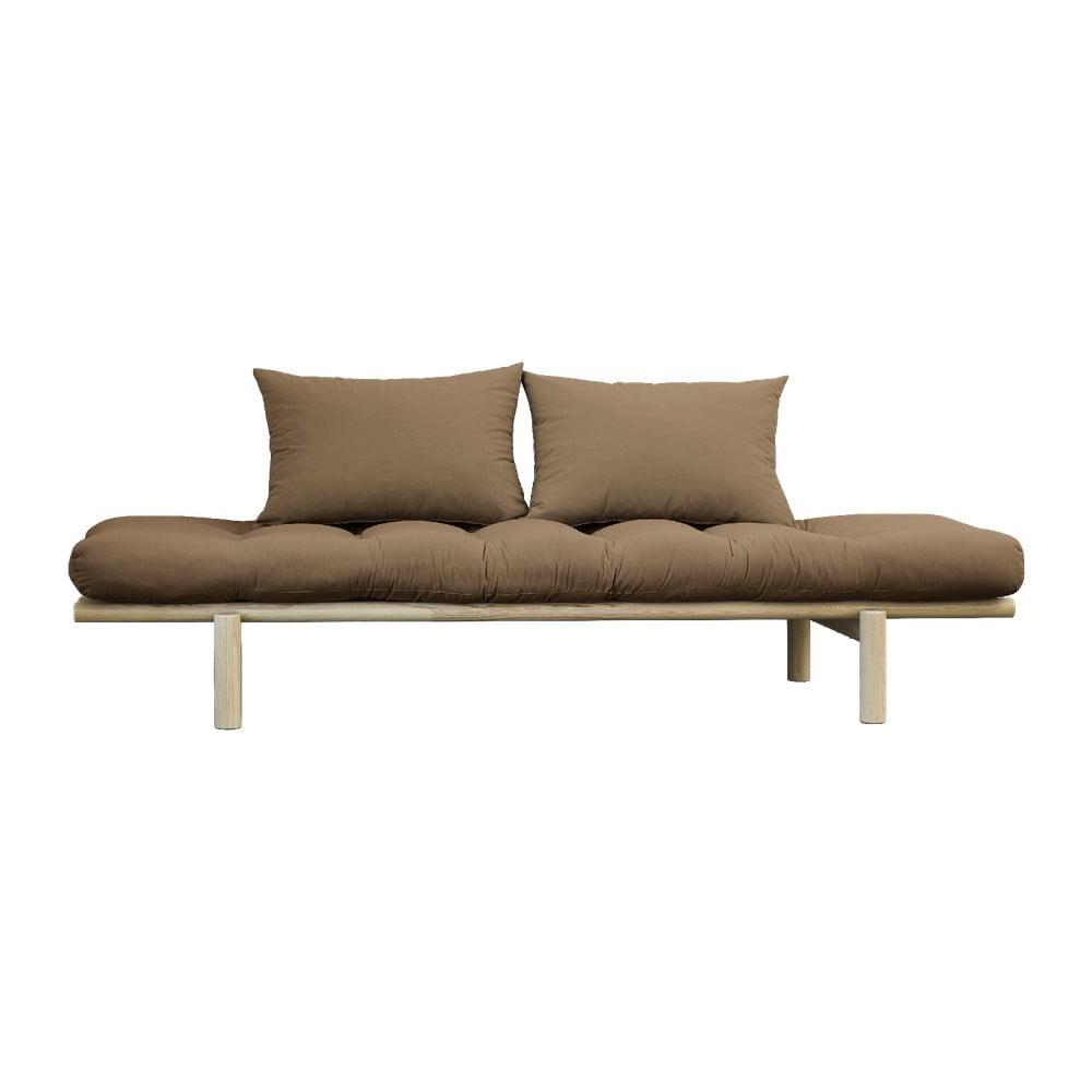 Sofa z brązowym obiciem Karup Design Pace Natural/Mocca