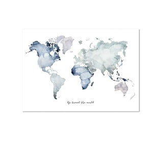Plakat Leo La Douce Go Travel The World, 29,7x42 cm