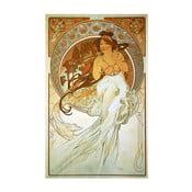 Reprodukcja obrazu Alfonsa Muchy Music, 40x60 cm