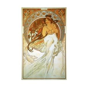 "Obraz ""Music"" (Alfons Mucha), 50x80 cm"