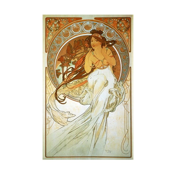"Obraz ""Music"" (Alfons Mucha), 26x40 cm"
