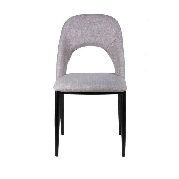 Zestaw 2 jasnoszarych krzeseł sømcasa Anika