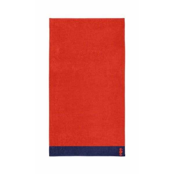 Czerwony ręcznik Seahorse Cruise,100x180cm