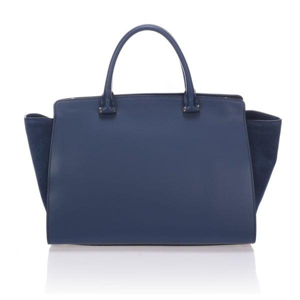 Skórzana torebka Krole Kristina, niebieska
