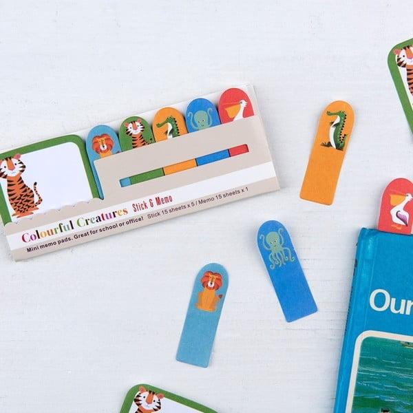 Zestaw 6 bloczków z karteczkami samoprzylepnymi Rex London Colourful Creatures
