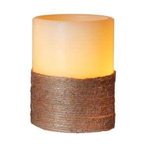 Biała świeczka LED, 12,5 cm