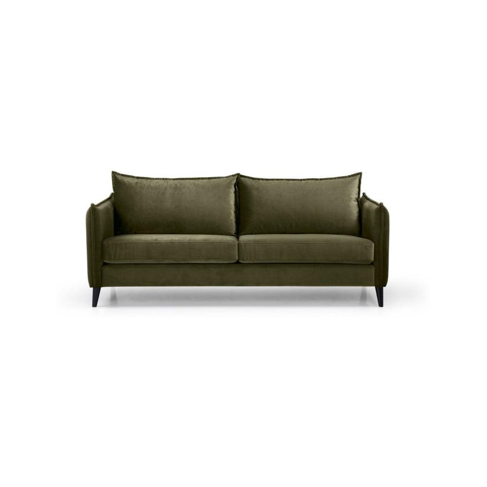 Zielona sofa 3-osobowa Scandic Leo