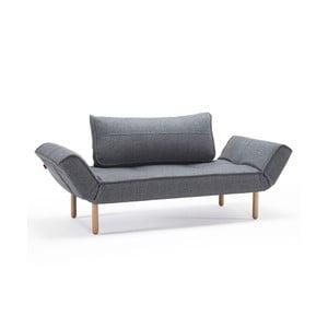 Szara sofa wielofunkcyjna Innovation Zeal Dark Wood