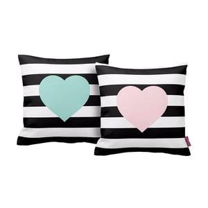 Zestaw  2 poduszek Homemania Hearts, 43x43cm