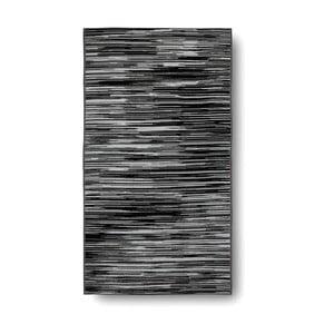 Czarno-biały ręcznik kąpielowy Casa Di Bassi Trendy, 100x180 cm