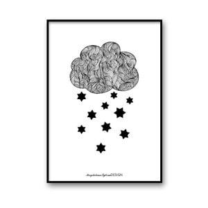 Plakat autorski Raining Stars, 30x40 cm