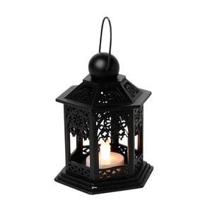 LED lampion Christmas 13 cm, czarny