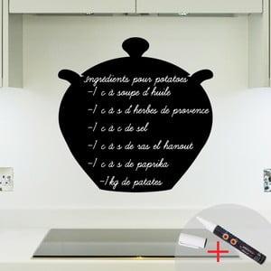 Tablica samoprzylepna z kredowym mazakiem Fanastick Cooking Pot