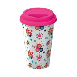 Porcelanowy kubek podróżny Creative Tops Floral, 350ml
