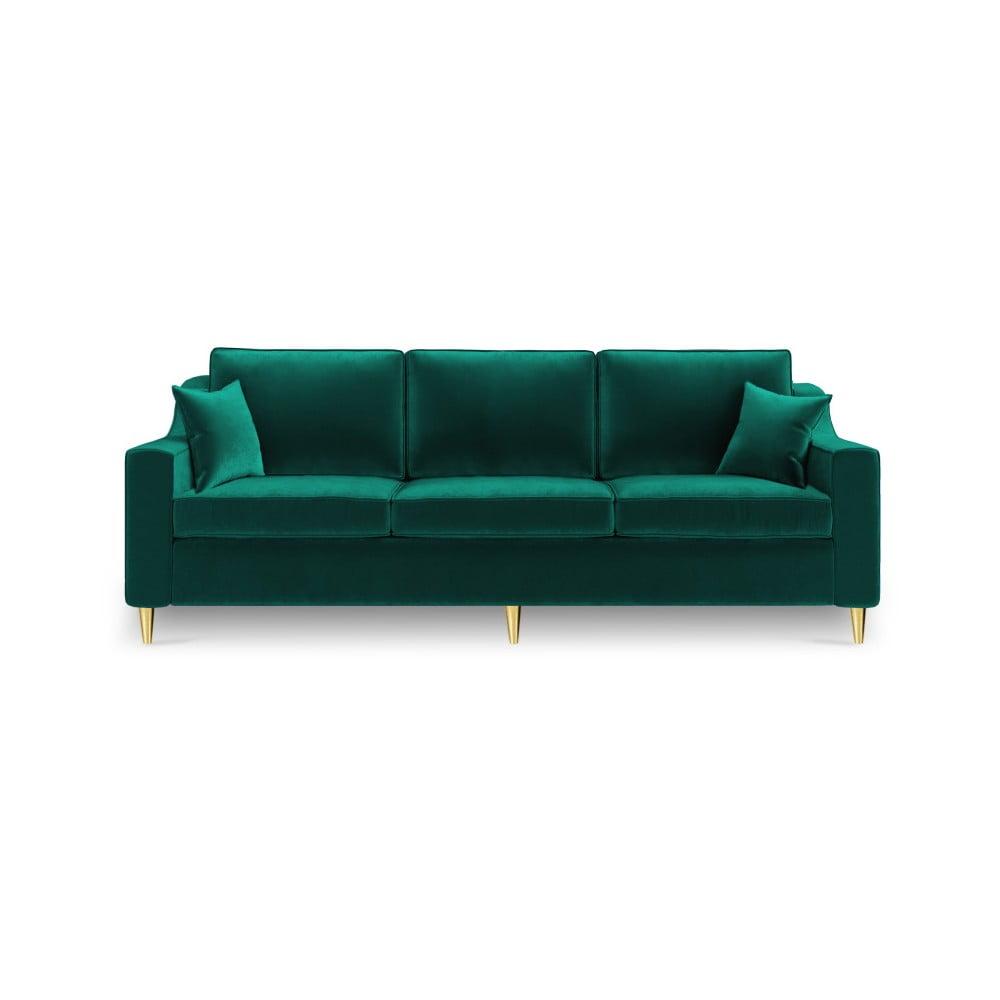 Zielona 3-osobowa sofa rozkładana Mazzini Sofas Marigold