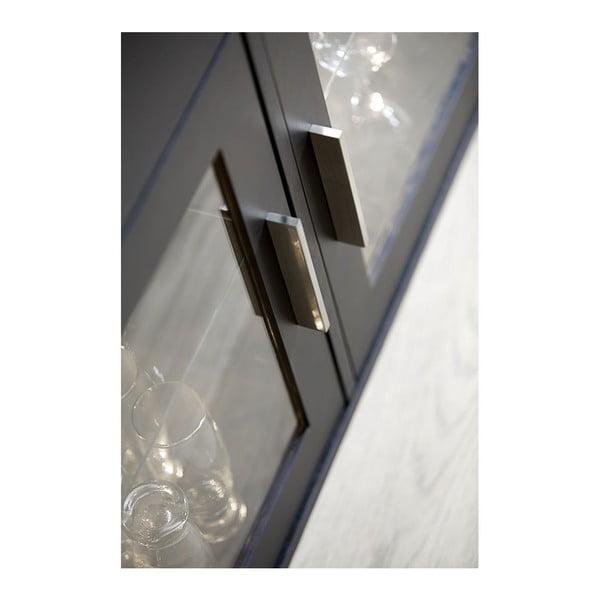 Czarna komoda 3-drzwiowa z 3 szufladami Canett Capella