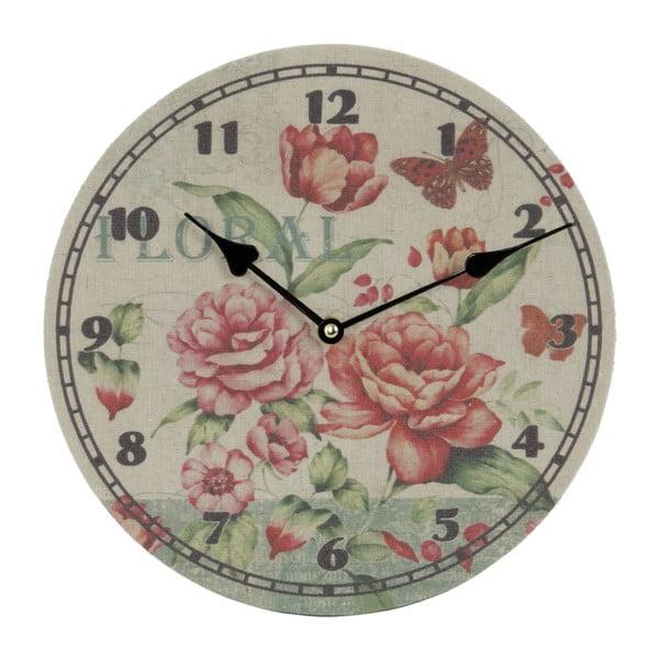 Zegar naścienny Floral, 29 cm