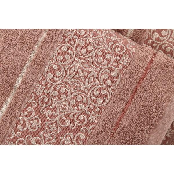 Zestaw 2 ręczników Fance Brown, 50x90 cm