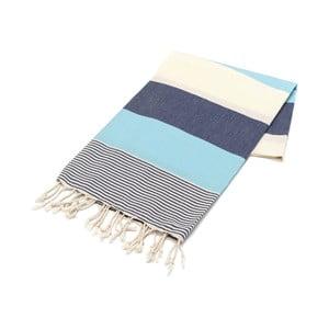 Granatowy ręcznik Hammam Amerikan, 100x180cm