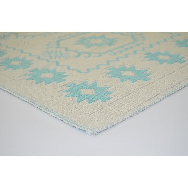 Niebieski wytrzymały dywan Dahlia, 60x90 cm