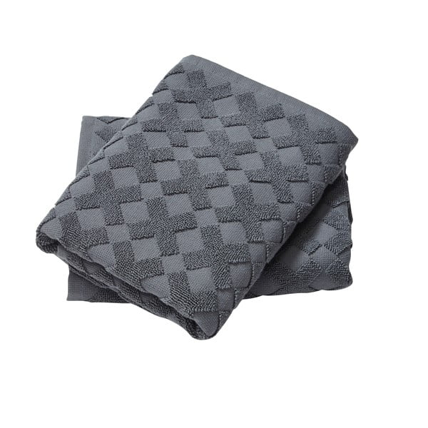 Ręcznik Cross Grey, 55x35 cm