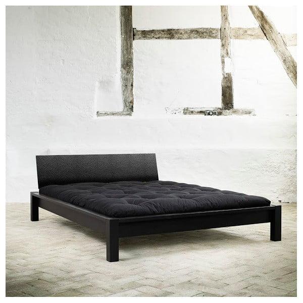 Łóżko Karup Tami Leather Black/Black Leather