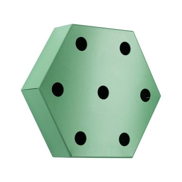 Stojak na wino Hexagon, zielony
