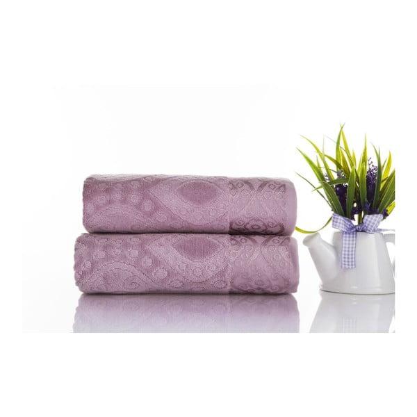Zestaw 2 ręczników Sal Violet, 50x90 cm