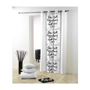 Zasłonka Lulu Calligraphie Blanc, 140x240 cm