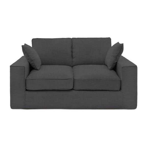 Ciemnoszara sofa dwuosobowa Vivonita Jane