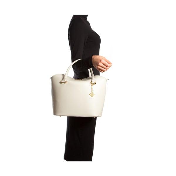 Skórzana torebka Isabella Rhea 396, kremowa