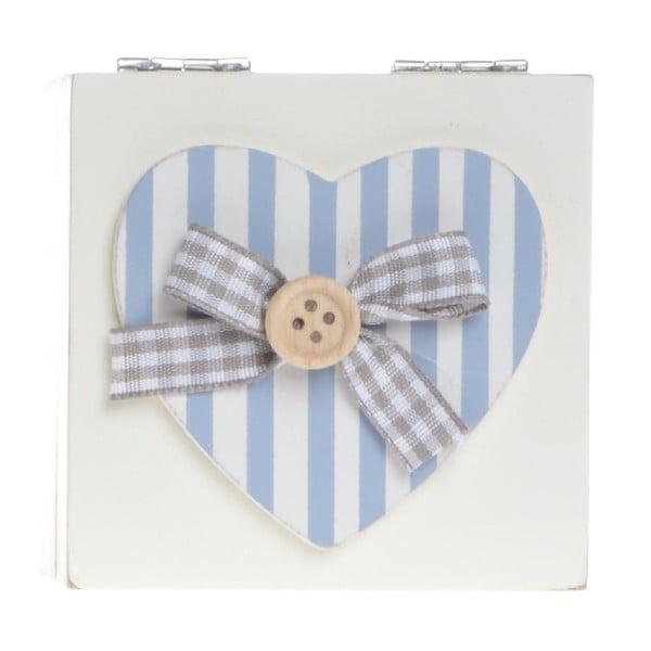 Drewniany pojemnik Heart and Stripes