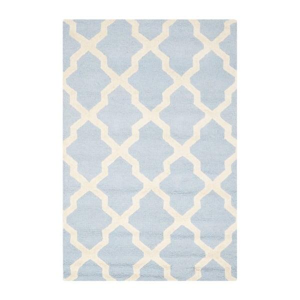 Dywan wełniany Ava Baby Blue, 121x182 cm
