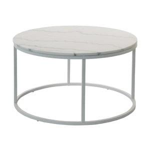 Marmurowy stolik z szarą konstrukcją RGE Accent, ⌀85cm