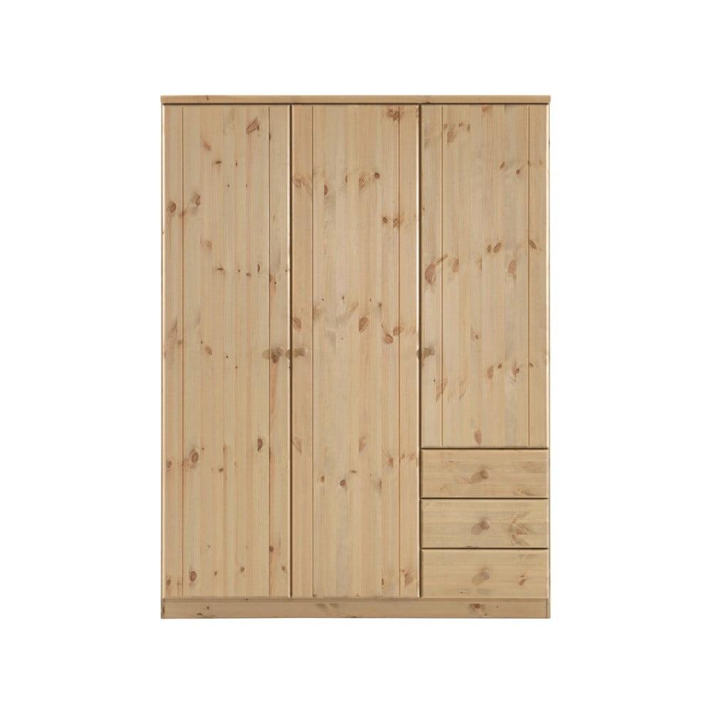 Jasnobrązowa szafa z drewna sosnowego Steens Ribe, 202x150,5 cm