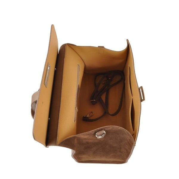 Skórzana torebka Pau, brązowa