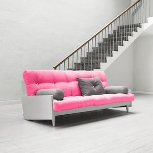 Sofa rozkładana Karup Indie Cool Gray/Magenta/Amarillo