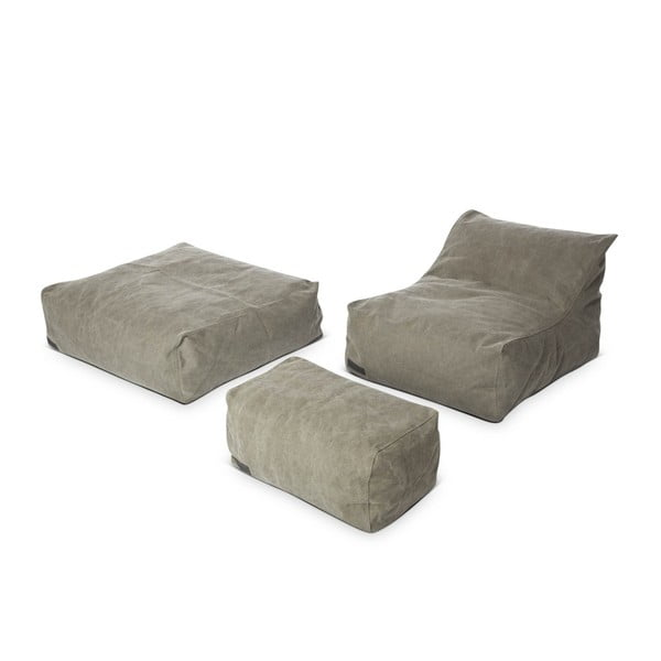 Puf Lounge Square Club Series, khaki